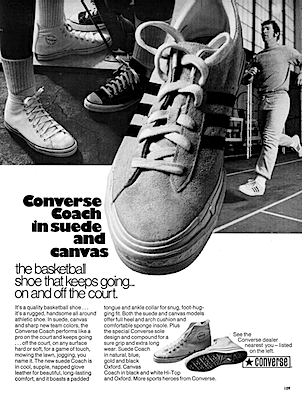 Converse Coach in Suede and Canvas