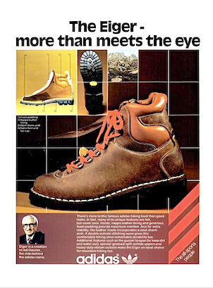 """adidas Eiger hiking boot """"The Eiger - more than meets the eye"""""""