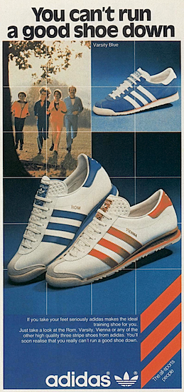 "adidas Varsity Blue, ROM, VIENNA ""You can't run a good shoe down"""
