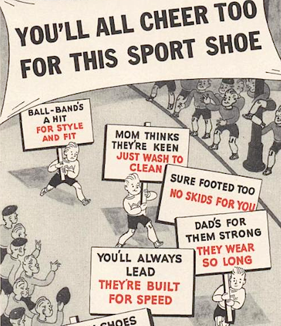 "BALL BAND Sport Shoes ""YOU'LL ALL CHEER TOO FOR THIS SPORT SHOE"""