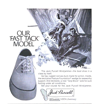 """B.f.Goodrich Jack Purcell Windjammer """"OUR 'FAST TRACK' MODEL"""""""