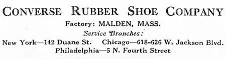 COMVERSE RUBBER SHOE COMPANY