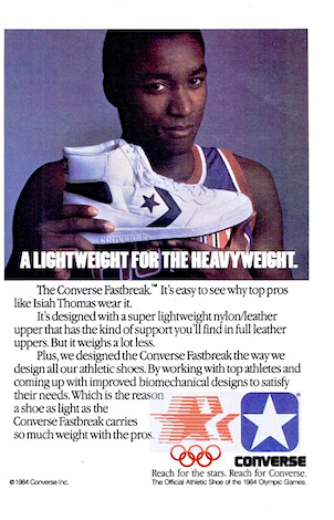 "Converse Fastbreak ""A LIGHTWEIGHT FOR THE HEAVY WEIGHT."""