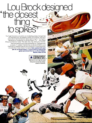 """Converse Lou Brock Player L.T.s """"Lou Brock designed """"the closest thing to spikes"""" """""""