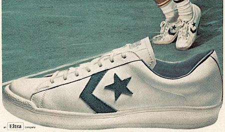 """Converse Pro-game """"Every Roscoe Tanner serves, he serves in Converse Shoes."""""""