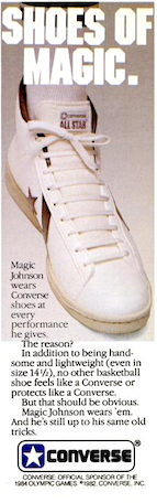 "Converse Pro Model Leather Hi top ""FEET OF MAGIC. SHOES OF MAGIC"""