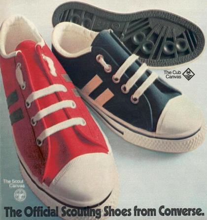 """Converse Scout Canvas / Cub Canvas """" We make shoes for Scouting the way we make shoes for Olympic competition."""""""