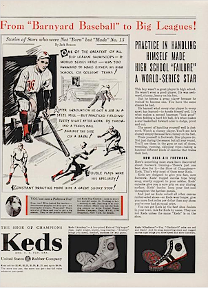 "Keds Attaboy, Gladiator ""From ""Barnyard Baseball"" to Big Leagues !"""
