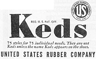 IN SOME STYLES KEDS UNITED STATES RUBBER COMPANY