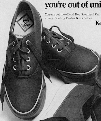 Keds The official Boy Scout and Cub Scout sneakers.