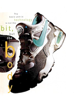 """Nike Air Max2 """"The basic unit in technology is not the bit, but the body."""""""