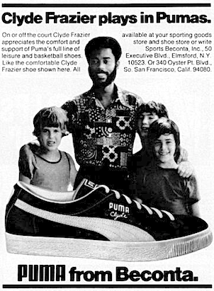 "sports shoes d00dd c1f24 PUMA Clyde ""Clyde Frazier plays in Pumas."" 