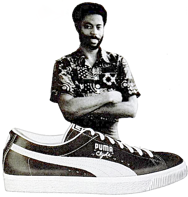 "PUMA Clyde ""Clyde Frazier plays in Pumas."""