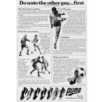 "PUMA Rapid soccer shoes ""Do unto the other guy… first by Hubert Vogelsinger"""