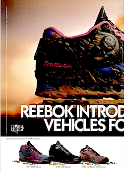 """Reebok Pump OXT """"REEBOK INTRODUCES OFF-ROAD VEHICLES FOR YOUR FEET."""""""