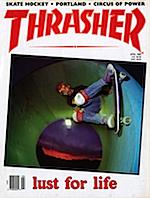 Thrasher Skateboard Magazine April / AIRWALK 1989