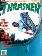 Thrasher Skateboard Magazine January 1988