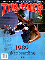 Thrasher Skateboard Magazine January 1989