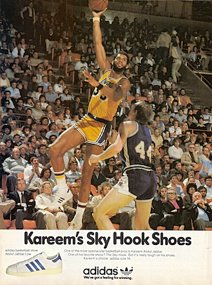 "adidas Abdul Jabbar Low basketball shoe ""Kareem's Sky Hook Shoes"""