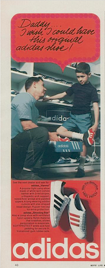 "adidas Vienna, Shooting Star ""Daddy… I wish I could have this original adidas shoe!"""