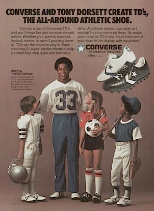 "ba65f749be5a Converse Tony Dorsett TD S ""CONVERSE AND TONY DORSETT CREATE TD S ..."