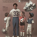 "Converse Tony Dorsett TD'S ""CONVERSE AND TONY DORSETT CREATE TD'S, THE ALL-AROUND ATHLETIC SHOE."""
