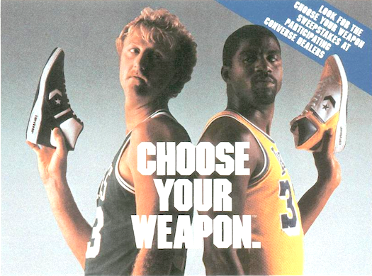 Larry Bird & Magic Johnson & CONVERSE WEAPONS