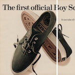 "Keds The official Boy Scout sneakers ""The first official Boy Scout sneaker."""