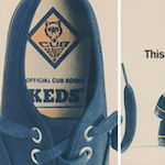 "Keds The official Cub Scout sneakers ""This ad is in code."""