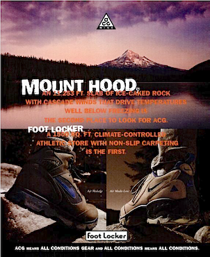 "Nike Air Makalu, Air Mdda Low ""MOUNT HOOD, FOOT LOCKER"""