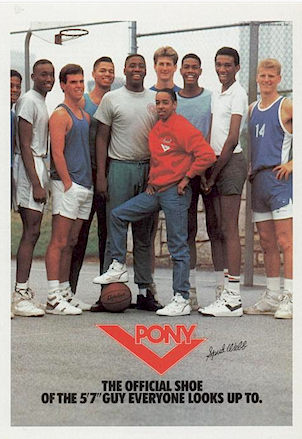 "PONY ""Spud Webb THE OFFICIAL SHOE OF THE 5'7"" GUY EVERYONE LOOKS UP TO."""