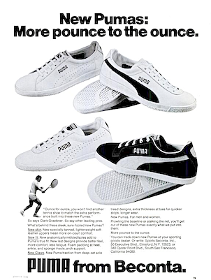 "PUMA Tennis shoes ""New Pumas: More Pounce to the once"""