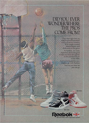 """Reebok BB4600, BB5600, BB6600 """"DID YOU EVER WONDER WHERE THE PROS COME FROM?"""""""