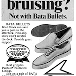 "Bata BULLETS ""Cruising for a bruising? Not with Bata Bullets."""