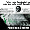 "PUMA baseball shoes ""What helps Reggie Jackson take that extra base? Puma Paws."""