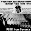 "PUMA baseball shoes ""What does Catfish Hunter wear on his $3 million feet? Puma Paws."""