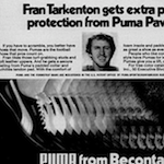 "PUMA football shoes "" Fran Tarkenton gets extra pass protection from Puma Paws."""