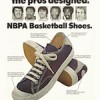 "Thom McAn NBPA basketball shoes ""The shoes the pros designed."""