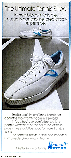 "Bancroft Tretorn Tennis Shoe ""The Ultimate Tennis Shoe."""
