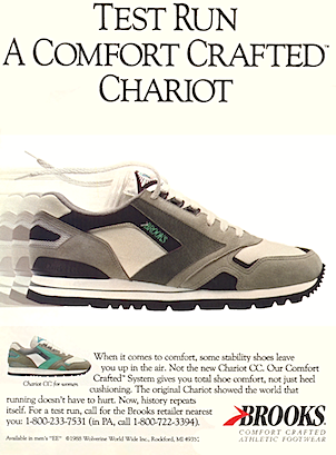 """Brooks Chariot CC """"TEST RUN A COMFORT CRAFTED CHARIOT"""""""