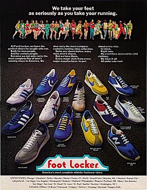 "Foot Locker ""We take your feet as seriously as you take your running."""