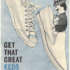 "U.S. Keds shoes Court King / new Champion Slipon ""GET THAT GREAT KEDS FEELING …"""