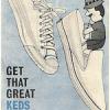 "U.S. Keds shoes Court King / new Champion Slipon ""GET THAT GREAT KEDS FEELING …"""