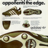 "adidas Europa Cup ""The shoe that won't give your opponents the edge."""