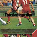 "adidas World Cup II soccer shoes ""Traction in action"""
