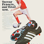 "adidas World Cup '78 football boots ""Trevor Francis Our Final test"""