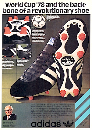 adidas World Cup '78 football boots / Tango football