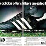 "adidas World-Cup 82 football boots ""Now adidas offer strikers an extra 10%."""