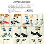 "Converse All Star ""8 out of 10 tournament basketball players have one thing in common."""