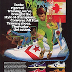 "Converse All Star ""To the rigors of training, we've brought the style of champions. Converse All Star Training shoes. They color the action."""